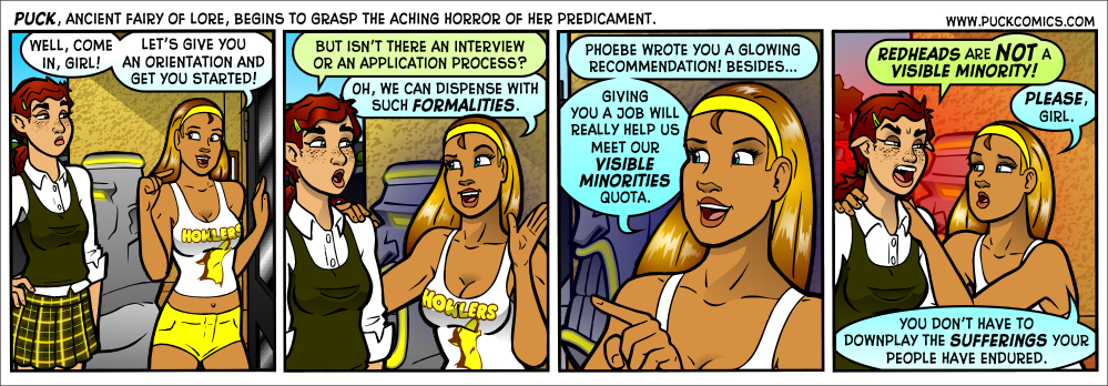 Unfortunately, blondes with spray tans will never be a visible minority.  They are all too prevalent.