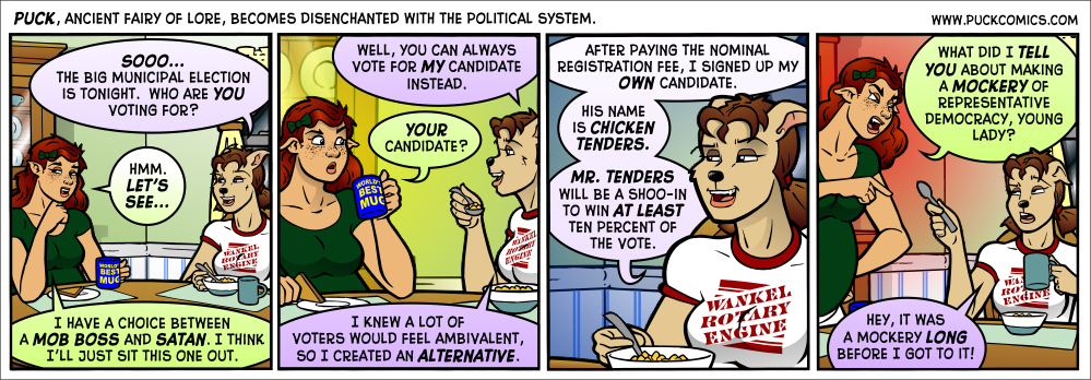 All bets are off it Mr. Buffalo Wings runs as a dark horse candidate.