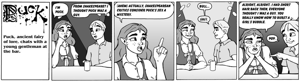 Dudes in Shakespeare's time actually had long hair, but who cares?