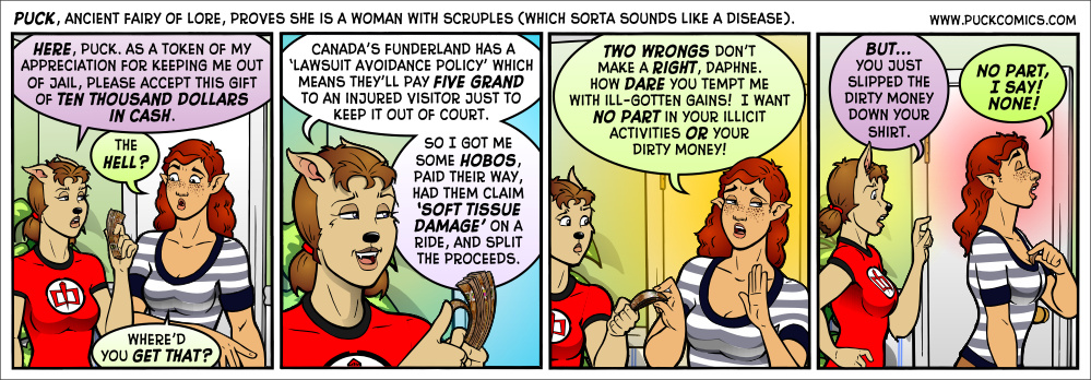 Daphne is a big proponent of the ancient practice of robbing Paul to pay Paul.