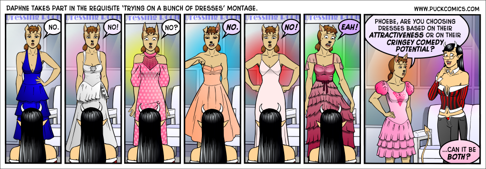 All of Daphne's dresses here are pulled from different movies!  See how many you can recognize!